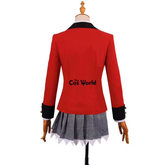 Kakegurui Yumemite Yumemi School Uniform Dress Coat Shirt Skirt Cosplay Costumes