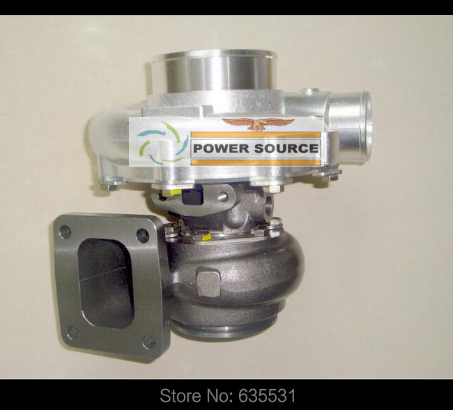 Turbo Turbine oil cooled Turbocharger T76 T4 Turbine AR .68 Comp AR 0.80 800HP-900HP Turbo charger - (4)