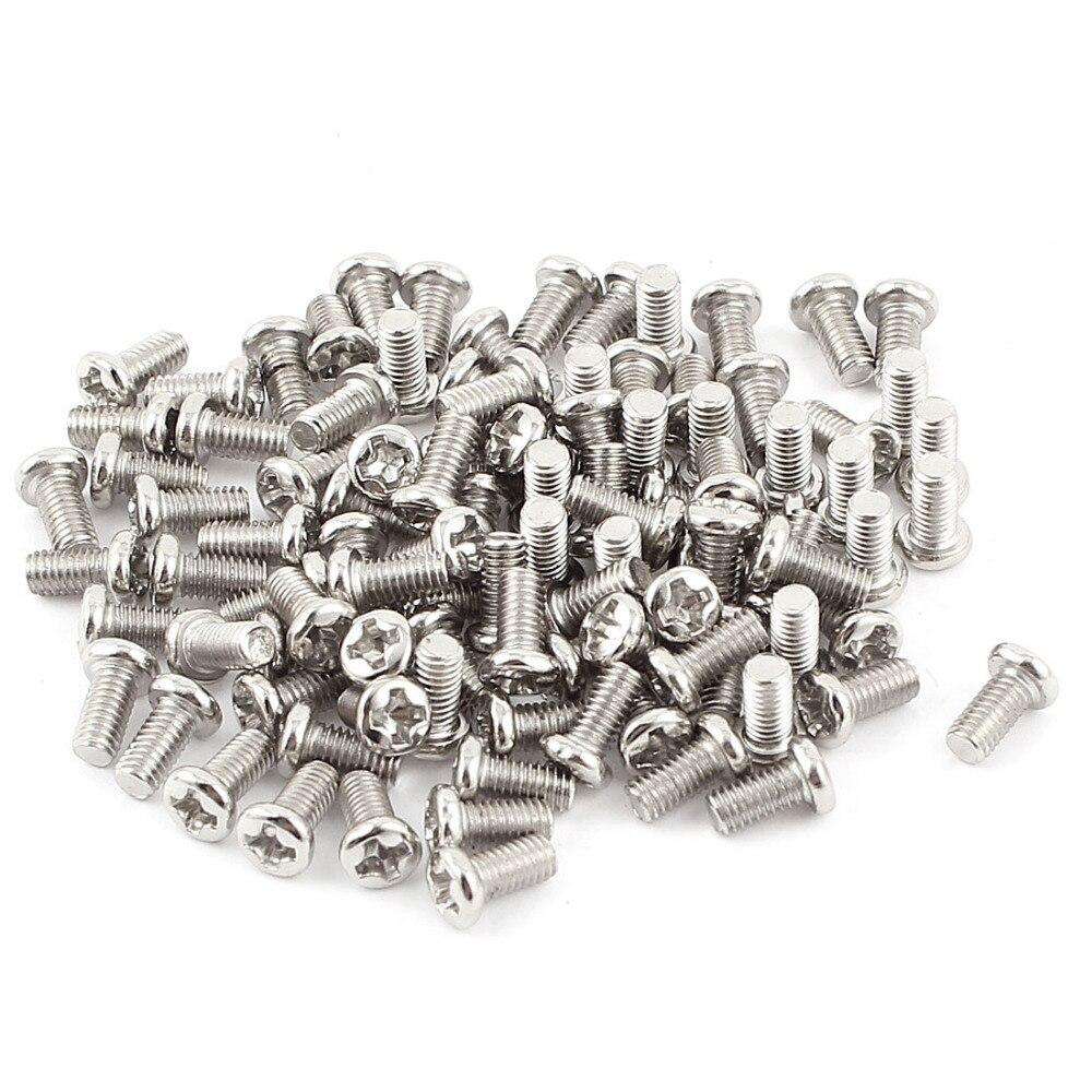 180pcs M3 x 6mm Recessed Crosshead Cross Head Threaded Screw Bolt Fasteners Hardware Tool 20pcs m3 6 m3 x 6mm aluminum anodized hex socket button head screw