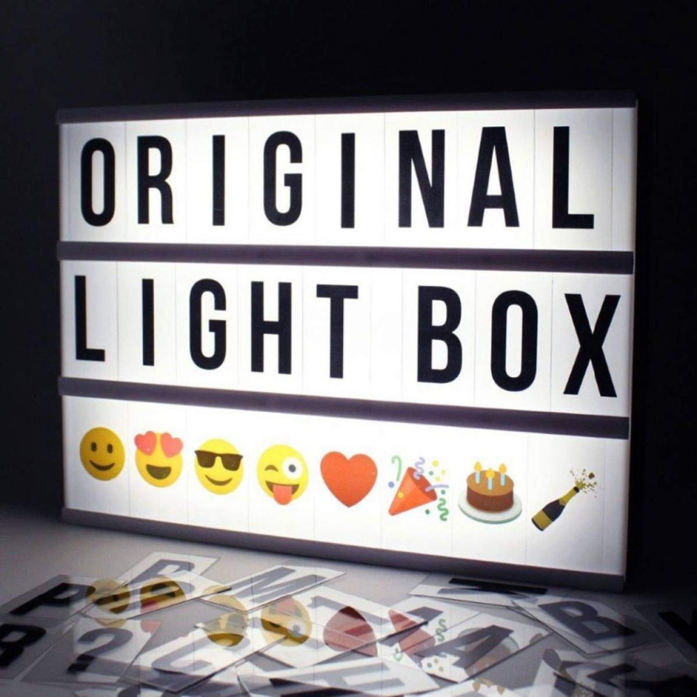 2018 DIY A4 A6 Size LED Combination Light Box Night Table Lamp DIY BLACK Letters Cards USB Powered Lightbox