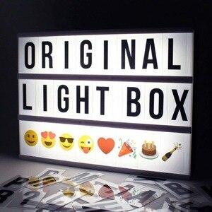 Image 3 - DIY 2018, caja de luz de combinación LED tamaño A4 A6, lámpara de mesa de noche, cartas negras hazlo tú mismo, caja de luz alimentada por USB