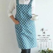 2018 fashion 100% cotton apron coffee shop and Flower Sleeveless work bib cooking clothing antifouling aprons
