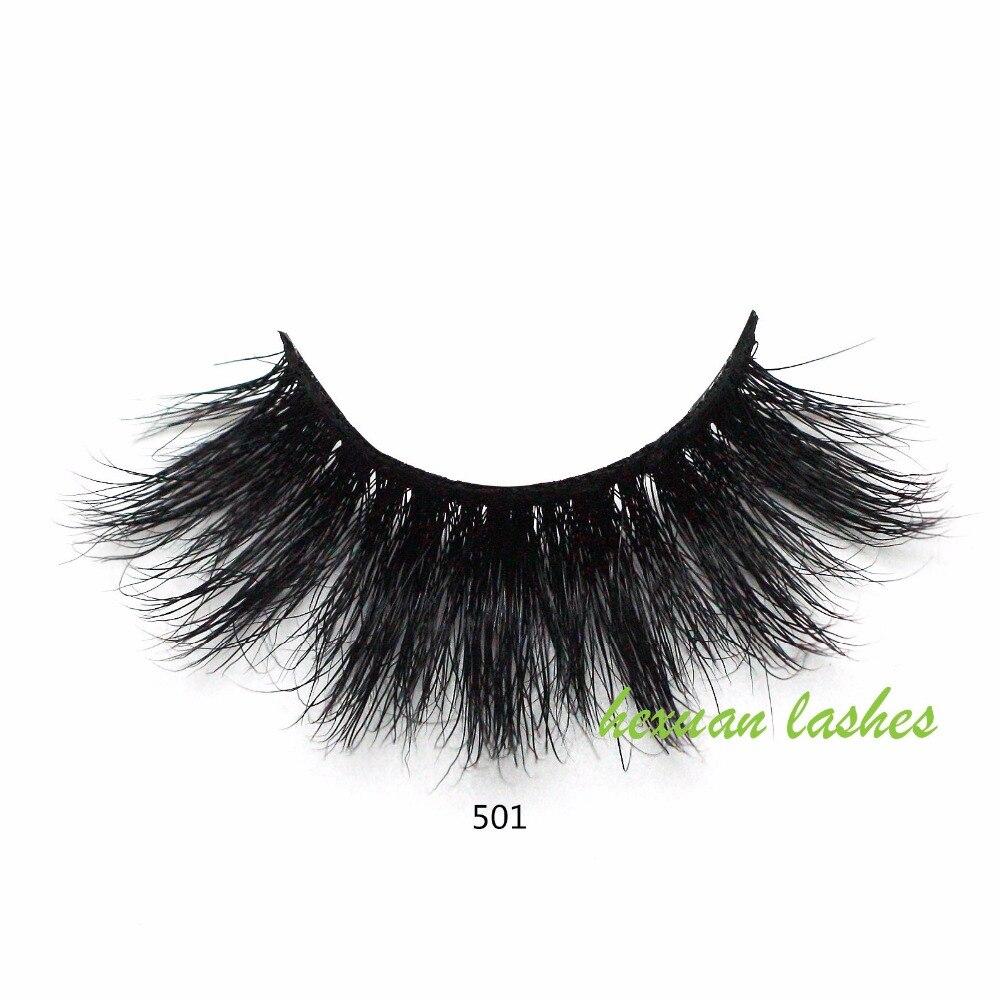 HEXUAN lsahes 5D mink eyelashes long lasting mink lashes ...