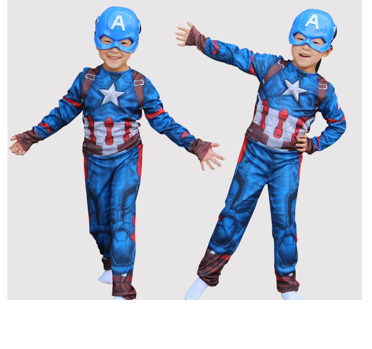 Christmas Boys Muscle Super Hero Captain America Costume SpiderMan Hulk Avengers Costumes Cosplay for Kids children girls