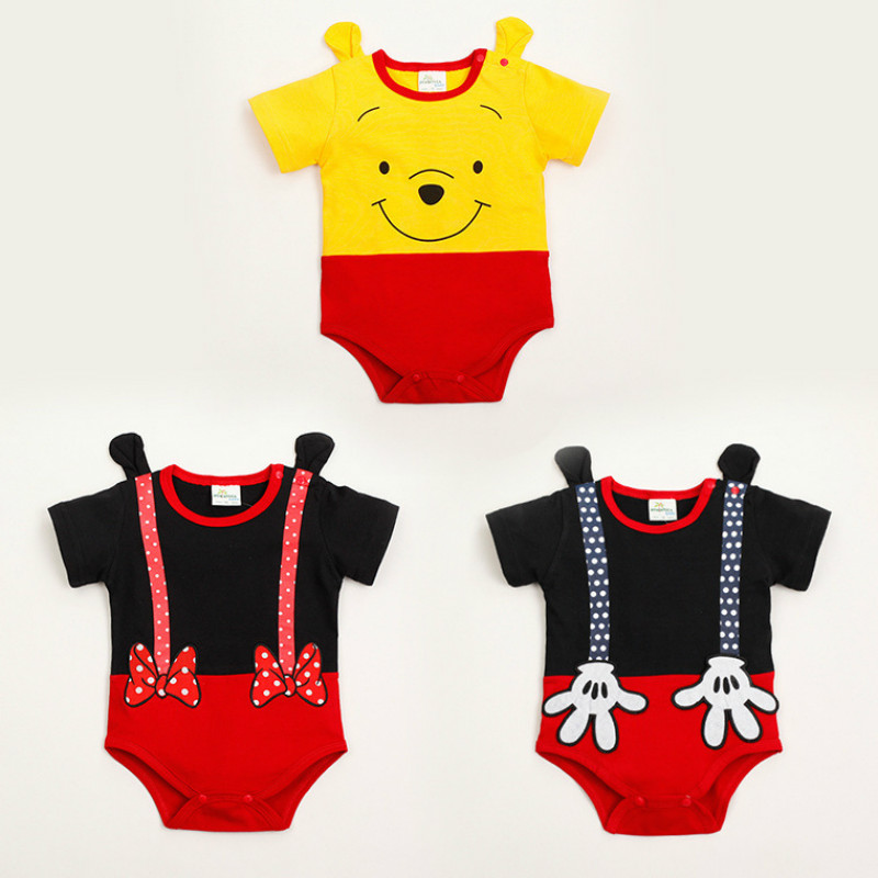 Baby Clothes Cute Cartoon Newborn Clothing Cotton Triangle Conjoined Harry Mouse Kid Crawl Suit