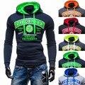 Hoodies Men 2017 Brand Male Long Sleeve Hoodie Chest Letter Printed Sweatshirt Mens Moletom Masculino Hoodies Slim Tracksuit  VB
