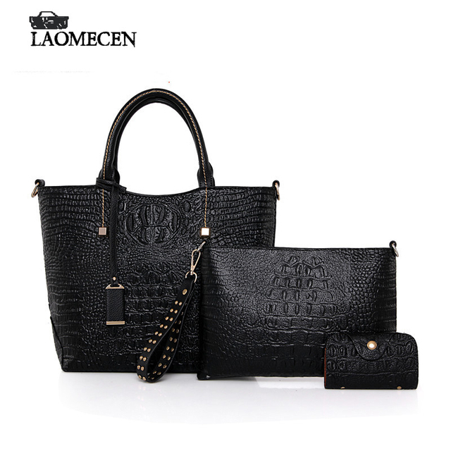 Famous Brands Vintage Crocodile Women Composite Bag High Quality Fake Designer Bags Card Holder Luxury French