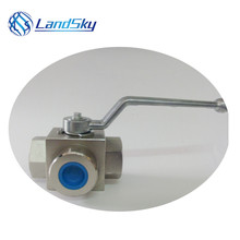 high pressure hydraulic G1/4 threaded 3 way ball valve industrial valve suppliers three way ball valve manufacturer port G1/4