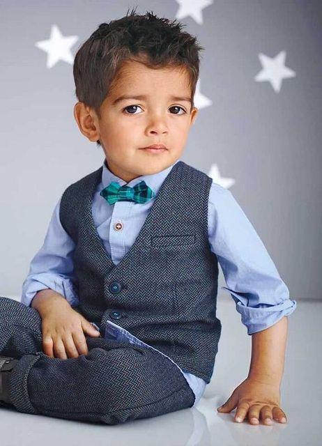 Розничная осень мода для мальчиков 4 шт. 2-9Y дети комплект одежды мальчика костюм жилет + с длинным рукавом + галстук + брюки джентльмен мальчик подходит