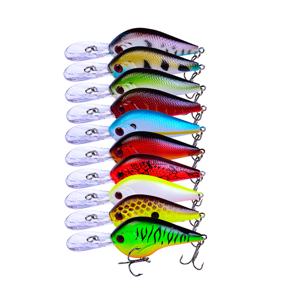70pcs Deep Swim Crankbait Fishing Lures Crank Wobbler Artificial Bait Jerkbait Minnow Fishing Hooks Pesca 9