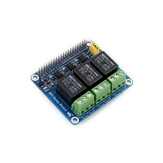 Relé De Potencia módulo Waveshare Raspberry Pi RPi módulo Tarjeta de Expansión Shield Admite Un +/B +/2 B 3 B para la Automatización Del Hogar Intellige