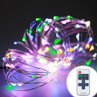 10M 100LEDs LED String Lights Copper Wire 33ft With DC12V Power And RF Remote Controller ChristmasTree