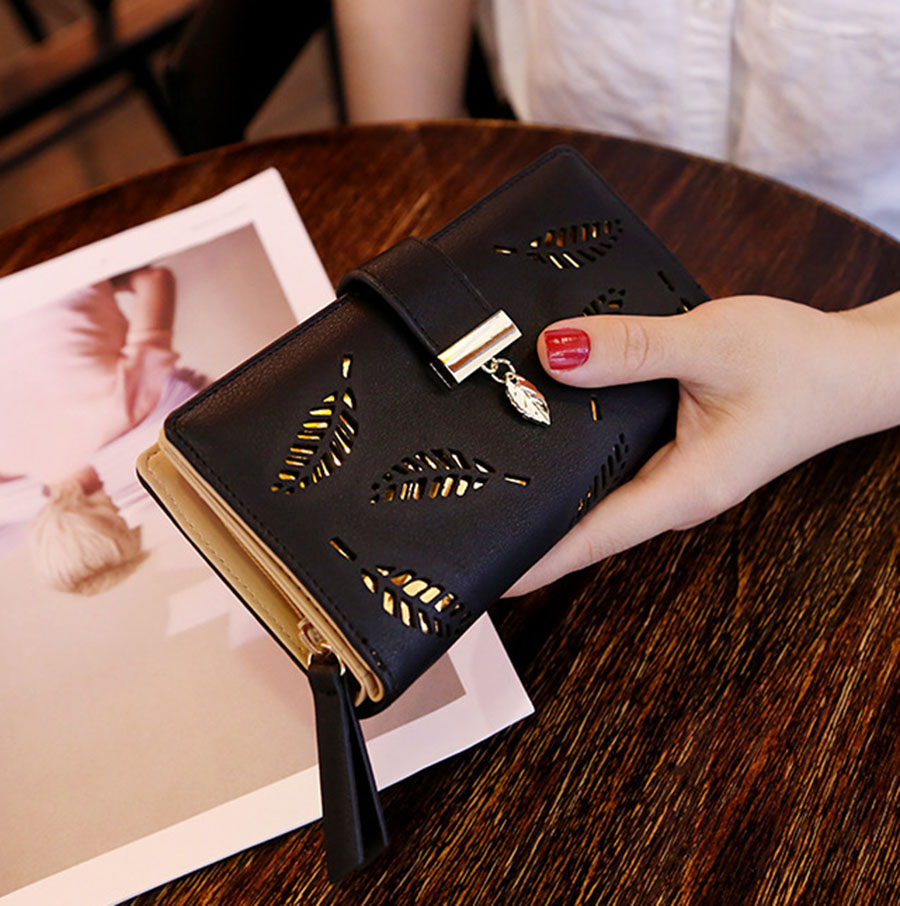 Mara's Dream, Женский кошелек с узором в виде листьев, мягкий из искусственной кожи, женская сумка, кошелек, сумочка, дизайнерские кошельки, кошелек для монет и карт