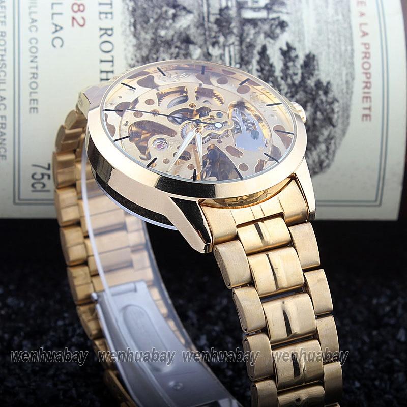 HTB19gXwckyWBuNjy0Fpq6yssXXag Luxury Silver Automatic Mechanical Watches for Men Skeleton Stainless Steel Self-wind Wrist Watch Men Clock relogio masculino