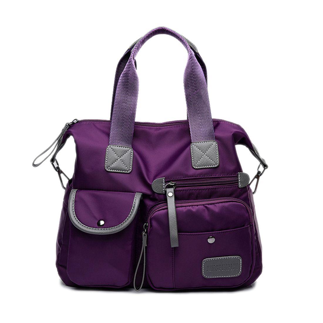 purple New Ladies Fashion Waterproof Oxford Tote Bag Casual Nylon Shoulder Bag Mummy Bag Large Capacity Canvas Bagpurple New Ladies Fashion Waterproof Oxford Tote Bag Casual Nylon Shoulder Bag Mummy Bag Large Capacity Canvas Bag