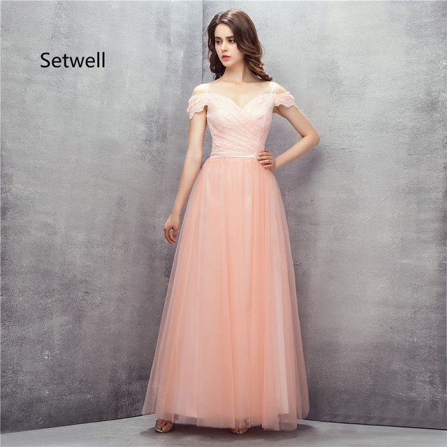 Setwell Cute Pink Prom Dresses 2017 Sexy V-Neck Backless Prom Dress High  Quality Long 66ae1d56e