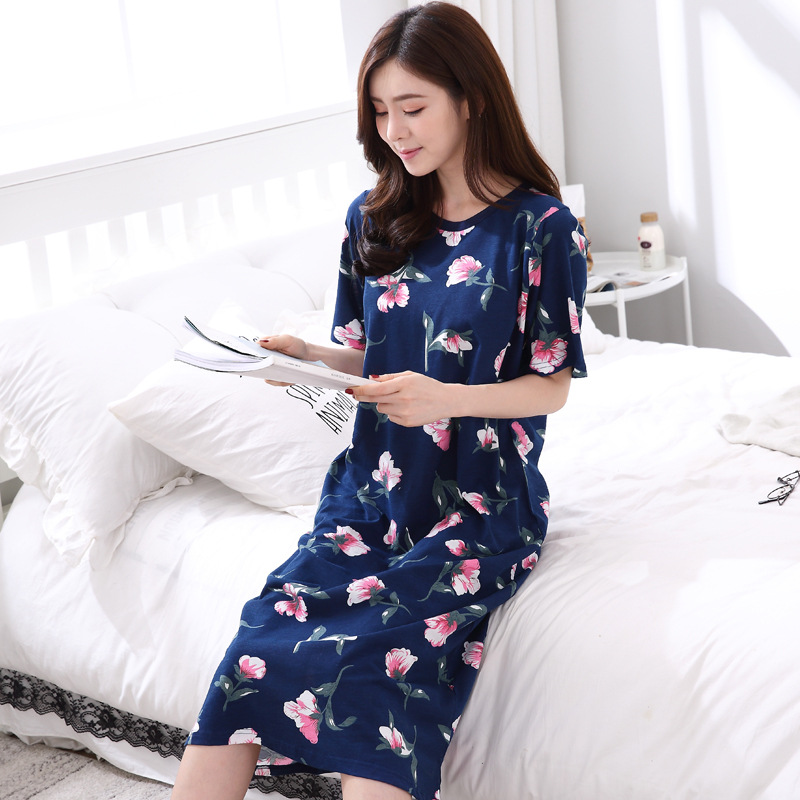 Cotton Women Sleepwear Striped Nightgowns Set Sleeping Wear Pijama Ropa  Interior Lingerie Dress Camisa Dormir Sleep ... b3faf8df4
