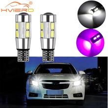 2X T10 LED canbus W5W 194 Interior Xenon White CANBUS NO OBC ERROR 10SMD 5630 5730 with Lens Projector Aluminum Case bulbs