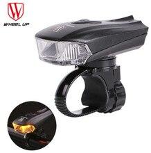 WHEEL UP Bicycle Head Light Bike Intelligent Front Lamp USB Rechargeable Handlebar LED Lantern Flashlight Movement Action Sensor все цены