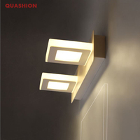 9W 3 Light LED Mirror Wall Light Bathroom Wall lamp Make Up Light Flexible Lamp Head LED Sconce AC85 265V Acrylic