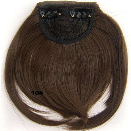 Similler Zwart Kort Front Stompe Pony Clip In Bang Fringe Hair Extensions Straight Synthetische Pruik 34 Kleuren