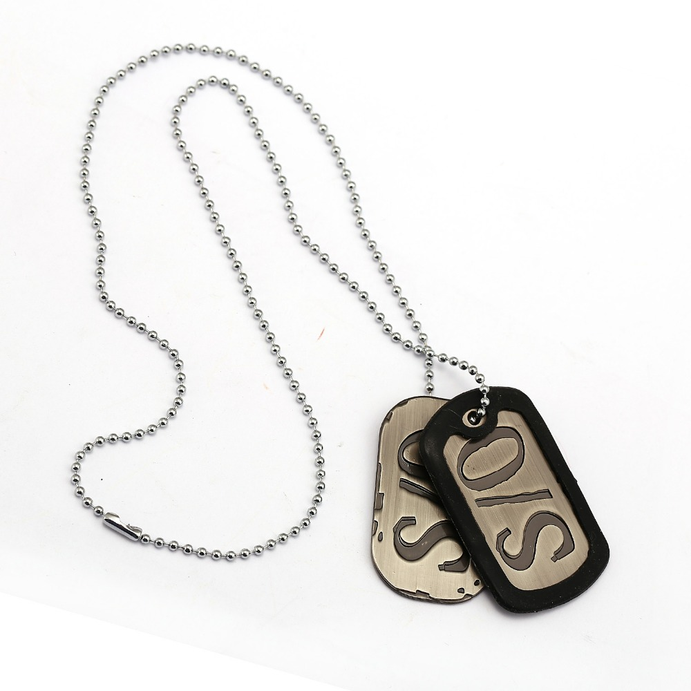 New Stainless Steel Zodiac Dog Tag Pendant Men S Women S: Anime GANGSTA Necklace S0 Dog Tag Stainless Steel Metal
