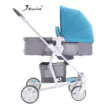 лучшая цена Multifunctional 3 in 1 Baby Stroller High Landscape Stroller Folding Carriage bebek arabasi lie or damping folding light weight