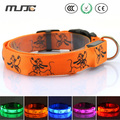 MJJC 2015 LED Luminous Pet Dog Collar Neck with Medium and Large Flash Dog Collars for Dog Cat S/M/L/ Size Adjustable