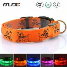 MJJC LED Luminous Pet Dog Collar Neck with Medium and Large Flash Dog Collars for Dog