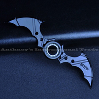 Fidget Tri Spinner Darts Naruto Kunai Batman Darts Metal Batman Hand Spinner Cosplay Rotatable Weapon Model
