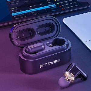 Image 4 - [برنامج تشغيل ديناميكي مزدوج] Blitzwolf BW FYE7 TWS Bluetooth 5.0 في الأذن رياضة الجري اللاسلكية سماعة ستيريو باس مكالمة ثنائية سماعات الأذن هاي فاي موسيقى سماعات لاسلكية حقيقية بطارية كبيرة