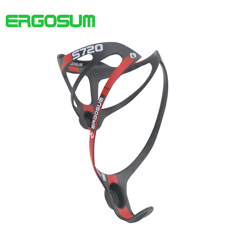 ERGOSUM Bicycle Bottle Holder UD Matte Bottle Cage Cycling Carbon Fiber Road Bicycles Ultra-light Water Bottle Hodlers rst bc2008 cycling bicycle carbon fiber water bottle holder black