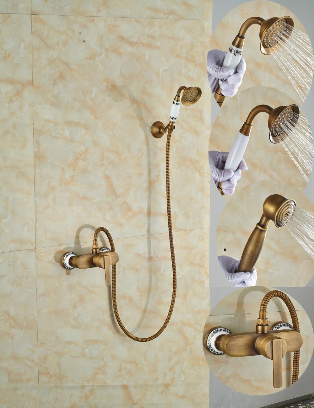 Wholesale And Retail Promotion Antique Brass Bathroom Tub Faucet Single Handle Valve Mixer Tap Ceramic Base Style Tub Faucet цена и фото