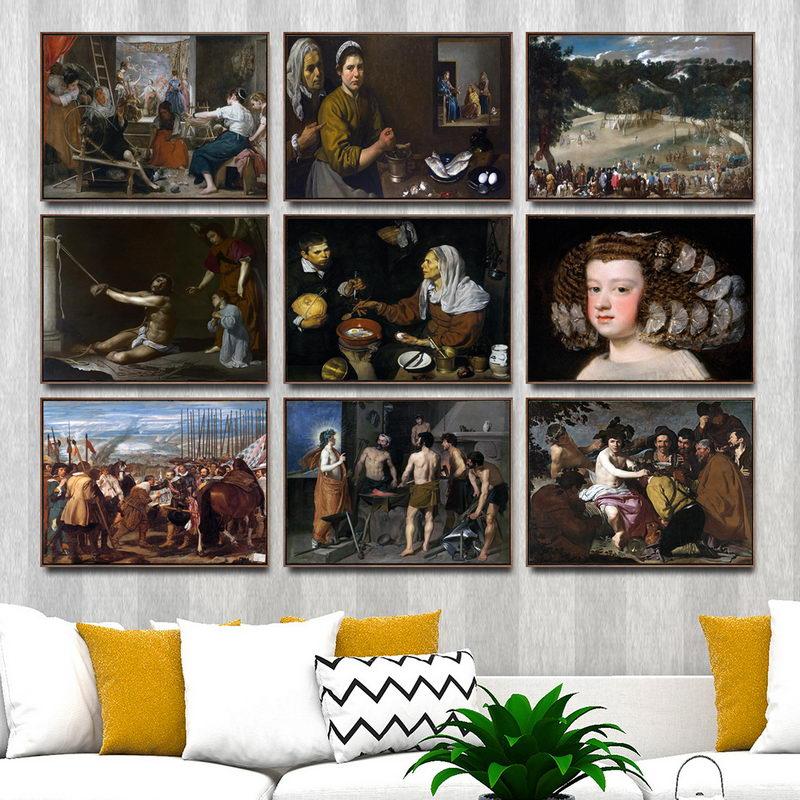 3 6 41 De Réduction Décoration De La Maison Art Mur Photos Pour Salon Affiche Impression Toile Peintures Espagnol Velazquez Figure Peinture à