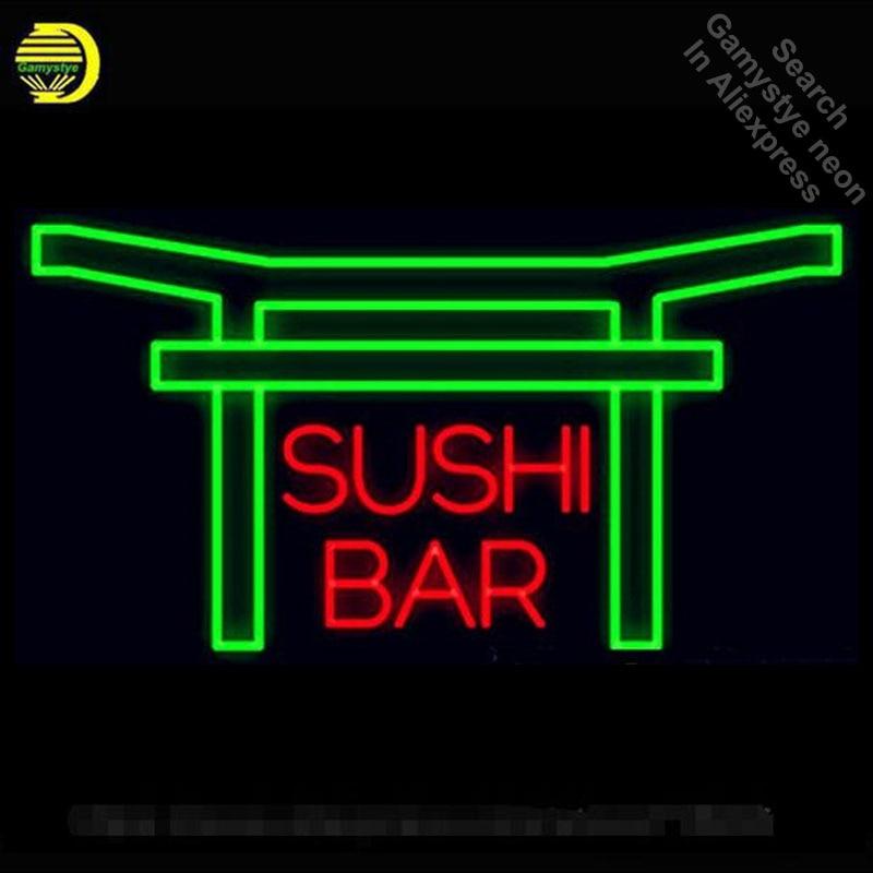 Enseigne au néon pour Sushi Bar Tube Néon Signe commercial artisanat Lampe Magasin Affiche Approprié pour Cadeaux lumière signe Professionnel