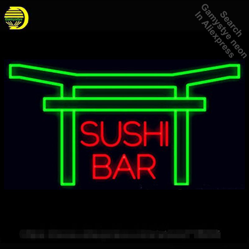 Neon Sign for Sushi Bar Neon Tube Sign commercial handcraft Lamp Store Displays Appropriate for Gifts light sign Professional
