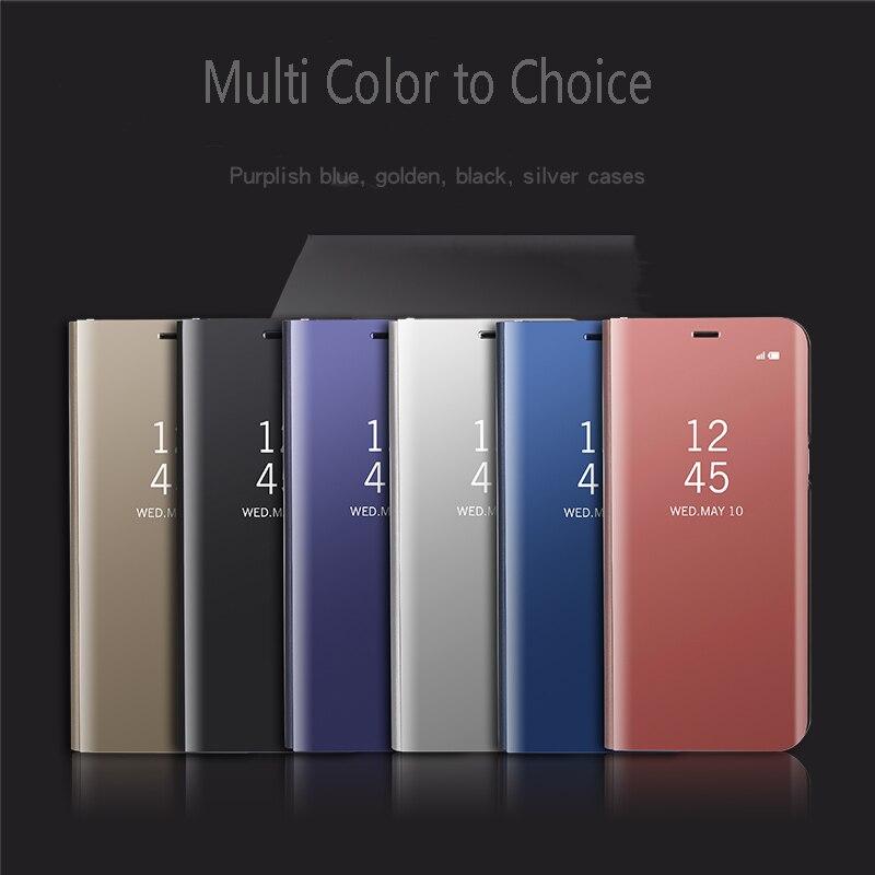 Роскошный кожаный чехол телефон назад Чехлы для мангала Флип Стенд Clear View Smart Зеркало чехол для телефона для Samsung Galaxy <font><b>S7</b></font> <font><b>Edge</b></font> s8 плюс Примечание 8