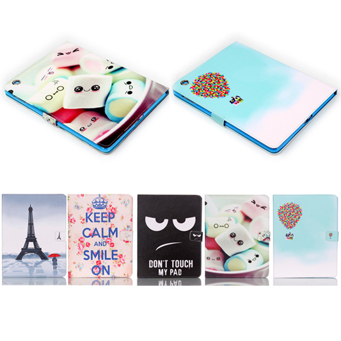 For ipad 2 3 4 Pu Leather eye black&tower Pattern Protective Skin Case for apple ipad 2 case for ipad 4 Tablet Accessories Y3dD uniq duo для apple ipad 2 black