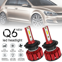 цена на 2pcs Car accessories A H7 Q6 12000LM 6000K 120W DOB LED Car Headlight Kit Hi or Lo Light Bulb for Cars Vehicles Auto