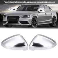 Pair of Matte Chrome Rearview Mirror Shell Cover Protection Cap for Audi B9 A4 2017 2018 A5 2017 2018 S4 S5 RS4 RS5 Mirror Shell
