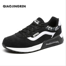QIAOJINGREN Hot brand Men shoes Lightweight sneakers Slip-on Casual Shoes For adult Fashion Footwear Zapatillas Hombre Black