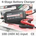 12 V 5A Carregador de Bateria Automático Inteligente, manutenção & Desulfator para Baterias de Chumbo Ácido, Carregador de Bateria de carro 100-240 V de entrada AC