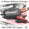12V 5A Automatic Smart Battery Charger, Maintainer & Desulfator for Lead Acid Batteries, Car Battery Charger 100-240V AC input