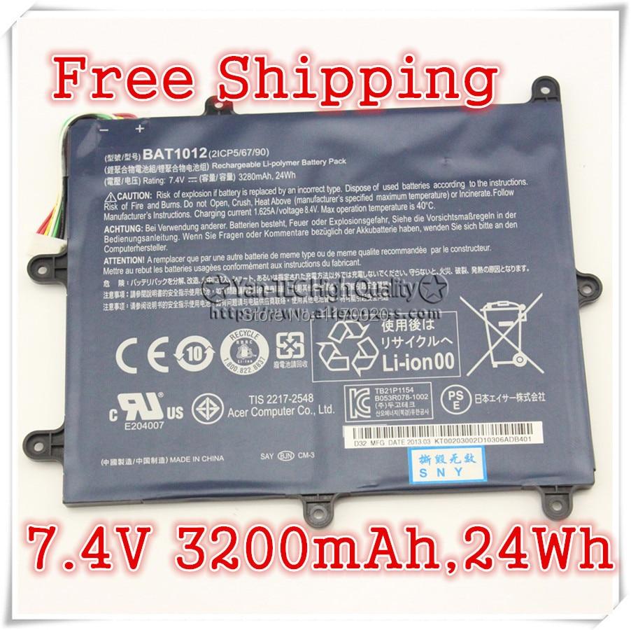 Original Battery  For   Acer Iconia TAB A200 BAT1012 BAT-1012 BT.00203.011 BT00203011  Free shipping