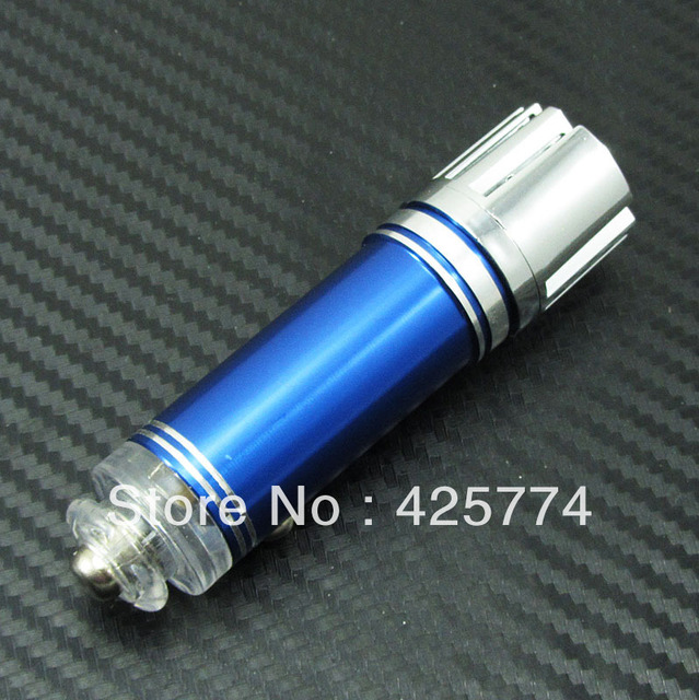 Blue Mini Car Impulse Anion Oxygen Bar Ozone Ionizer New design Air Purifier Cleaner Fresher Remove smoke bad smell