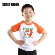 Birthday T Shirt For Boys Purple Ragalan Boy Children Clothes Short Sleeves Tops O-Neck Tees Kids
