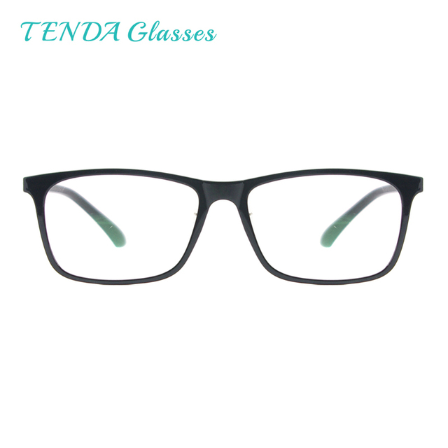 7d53f78d77e50 Men Full Rim Rectangular Spectacles Lightweight Flexible Plastic Eyeglass  Frames with Spring Hinge For Prescription Lenses