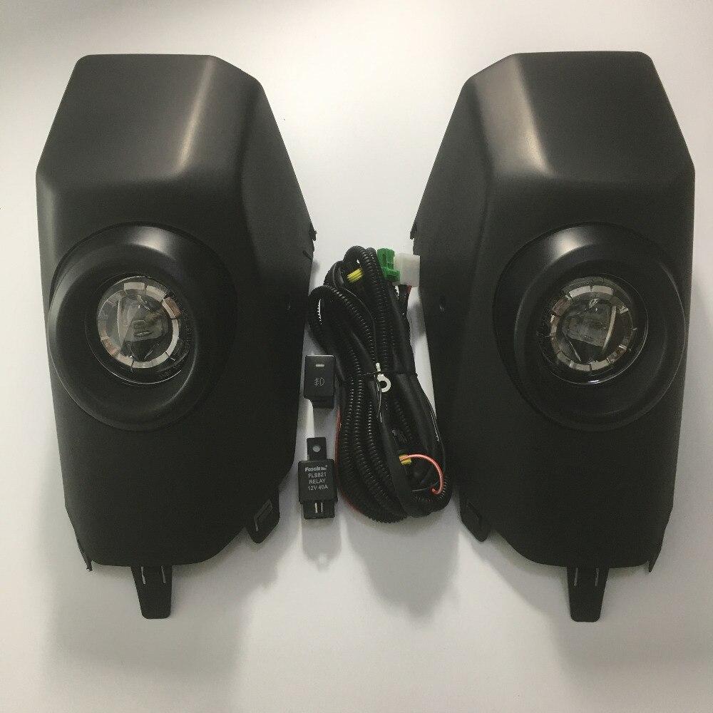 LED For Toyota FJ Cruiser 2007 2017 BLACK Fog Lamp DRL Daytime Running Light Day Driving