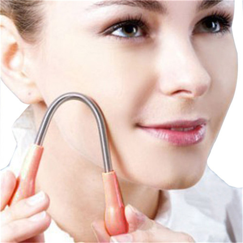 Hot 1 pcs Face Body Manual Face Facial Hair Remover Epilator Facial Spring Threading Shaver Super Stick Women Beauty Care p#