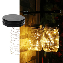 iTimo Mason Jar Insert LED Light String Battery Operated DIY Copper Fairy Strip Wire Night Lamp Outdoor Garden Party Decoration